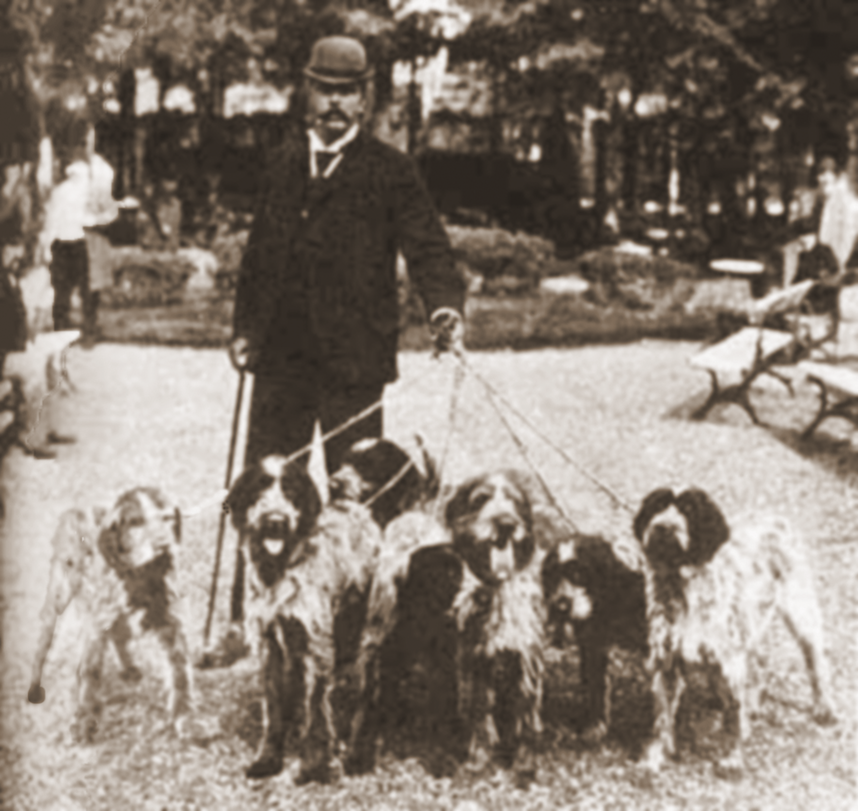 Dogs of Baron von Gingins, 1894.